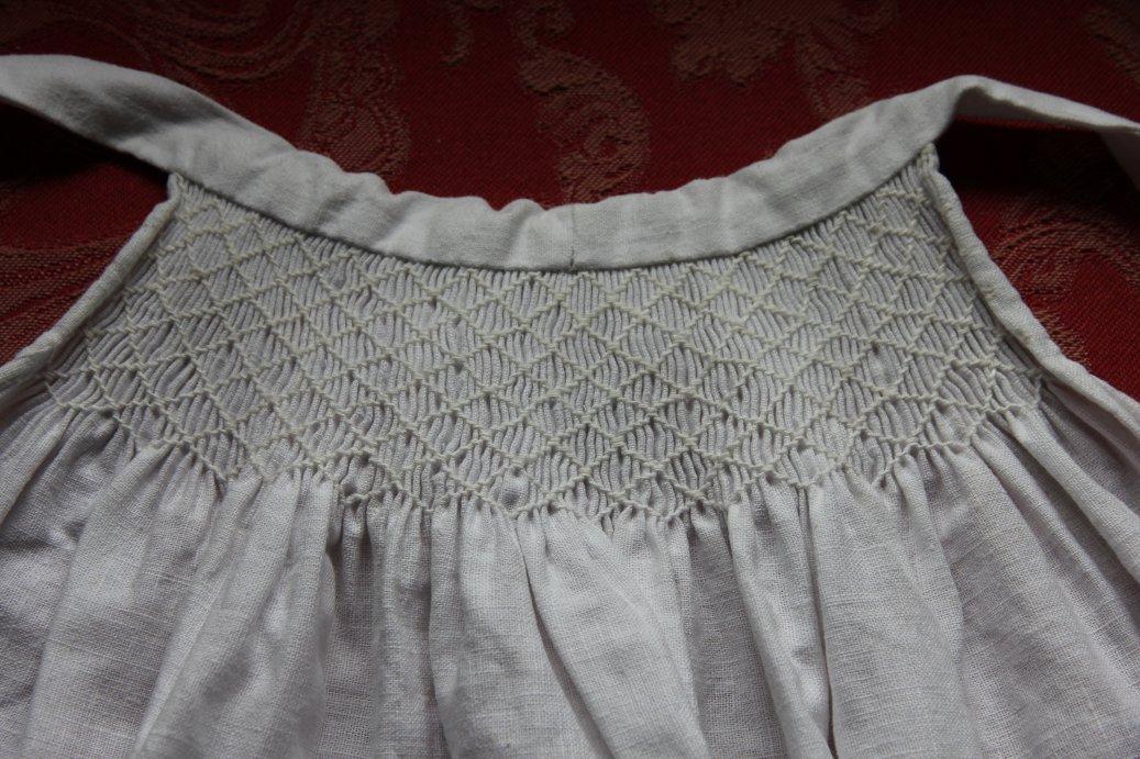 Smocked apron