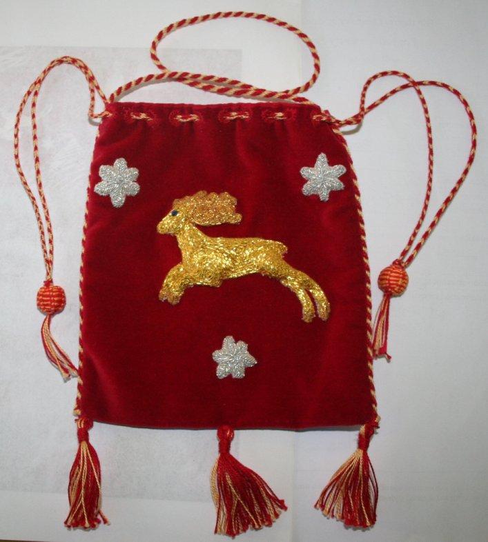Goldwork pouch
