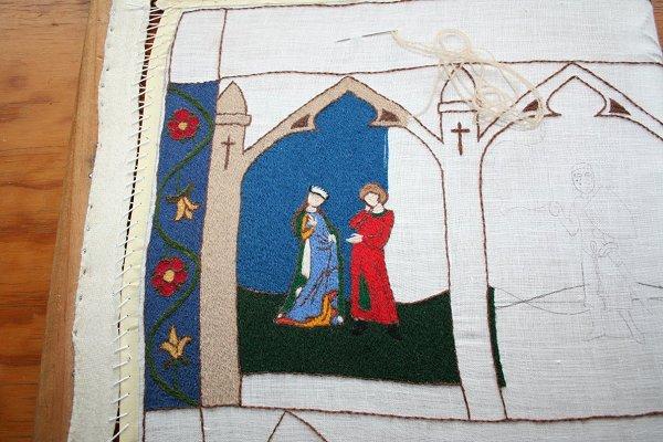 Klosterstitch panel