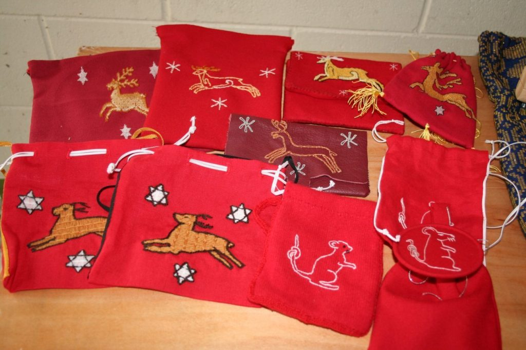 Display of pouches