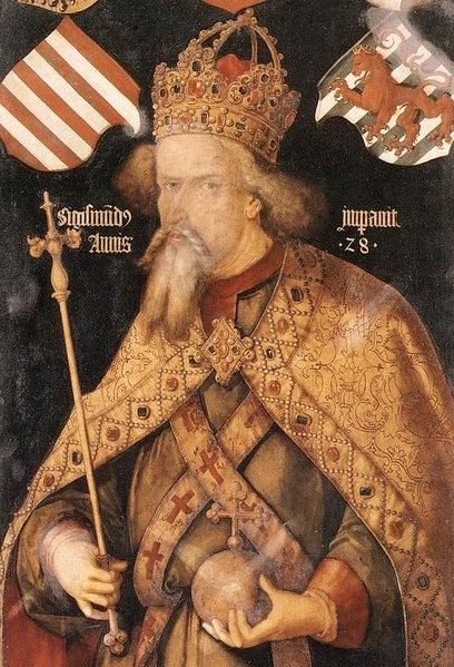 Emperor Sigismund wearing mantle