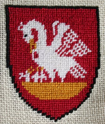 Embroidered pelican