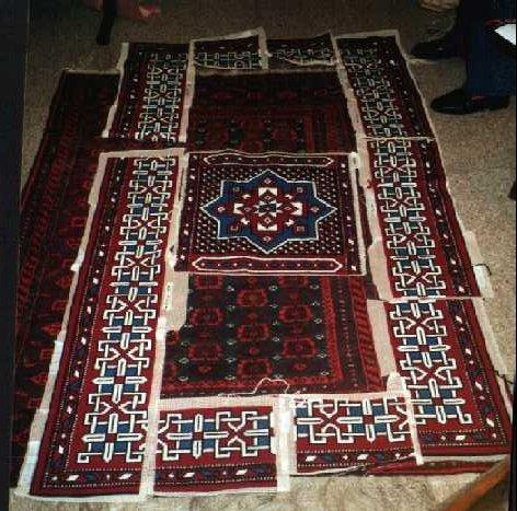 Carpet in pieces