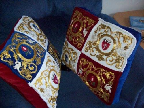 Ceara goldwork cushions
